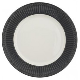 Dinner plate Alice dark grey