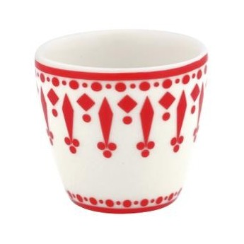 Egg cup small Fleur red