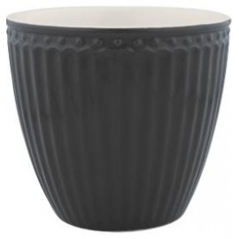 Latte cup Alice dark grey