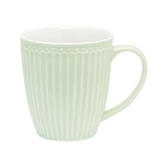 KUBEK MUG ALICE PALE GREEN H 9,5 CM