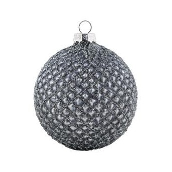 Ball glass thunder w/glitter hanging