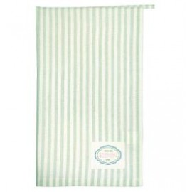 Tea towel Alice stripe pale green