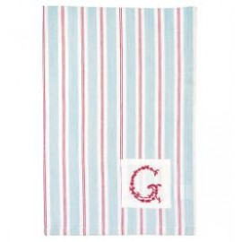 Tea towel Ruby pale blue