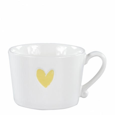 bastion Mug White/Heart in Gold