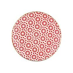 nowe Plate Kelly red w/gold