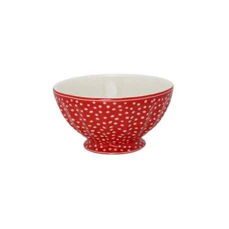 MISECZKA XL -   FRENCH BOWL  DOT RED GREEN GATE