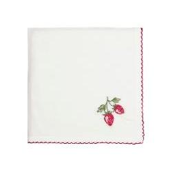 2019 Napkin Strawberry red w/embroidery 40x40cm