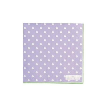 2019Napkin Spot lavendar small 20pcs