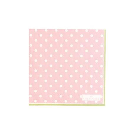2019Napkin Spot pale pink small 20pcs
