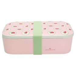LUNCH BOX STRAWBERRY PALE PINK GREEN GATE