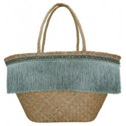 2019Basket bag Fringe pale blue