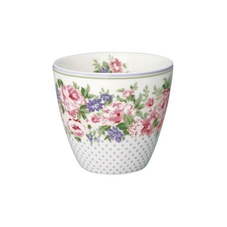 KUBEK LATTE CUP ROSE WHITE GREEN GATE