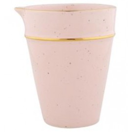 Pitcher pale pink w/gold rim