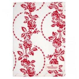 Tea towel Fleur red