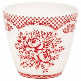 KUBEK LATTE CUP STEPHANIE RED