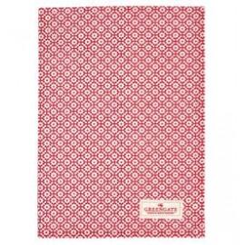 Tea towel Jasmina red