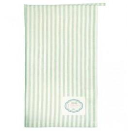 Tea towel Alice stripe pale green
