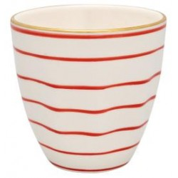 KUBEK LATTE CUP SALLY RED W/GOLD GREEN GATE