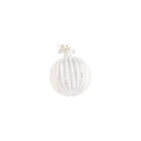 nowe Ball glass Corine silver glitter