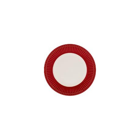 Plate small Alice red