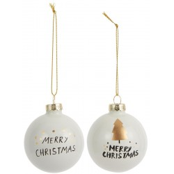 Christmas ornaments Merry Christmas 2 asstd