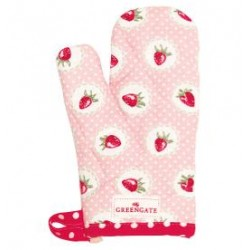 2019Child grill glove Strawberry pale pink