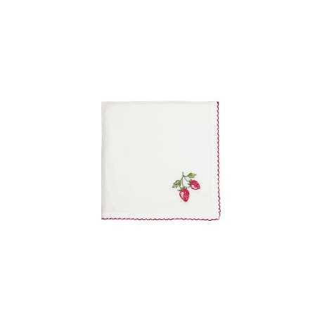 2019 Napkin Strawberry red w/embroidery 40x40cm