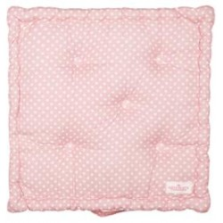 SIEDZISKO  BOX CUSHION SPOT PALE PINK 50CMX50CM GREEN GATE