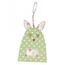 2019Egg warmer rabbit Spot pale green