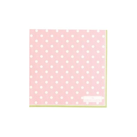 2019Napkin Spot pale pink small 20pcs