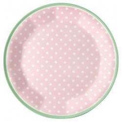 2019Plate Spot pale pink melamina