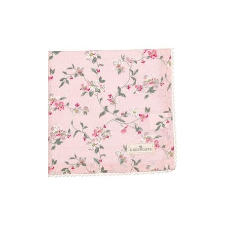 2019Napkin with lace Jolie pale pink