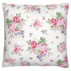 2019Cushion Rose white 50x50cm