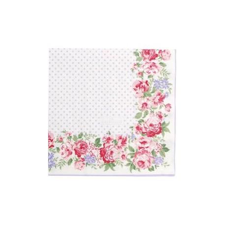 2019Napkin Rose white large 20pcs