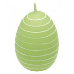 2019Easter egg Stripe pale green