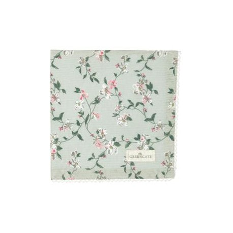 2019Napkin with lace Jolie pale mint