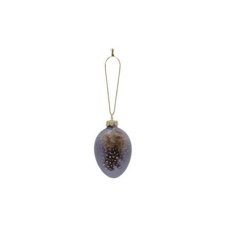2019Egg ornament hanging Feather lavendar