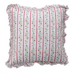 Cushion Gloria white w/frill 50x50cm