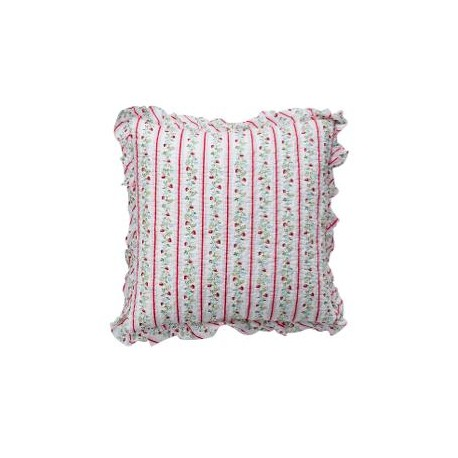 Cushion Gloria white w/frill 50x50cm