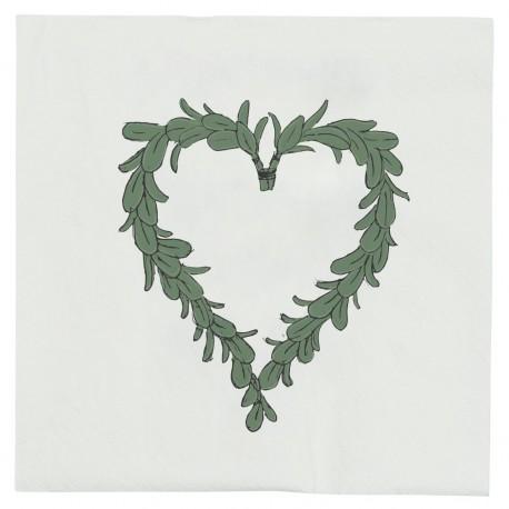 ib Napkin heart/mistletoe Barcode 5709898298814