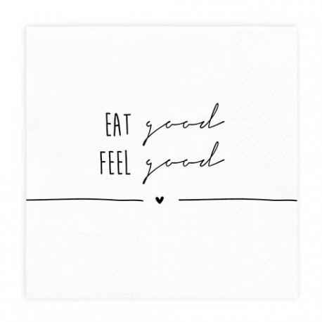 Napkin Eat Good/Feel Good incl. 20 pcs 16,5x16,5cm