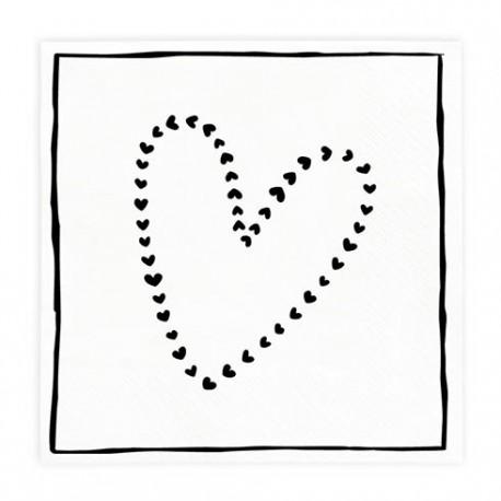 bc Napkin Love it incl. 20 pcs 16,5x16,5cm