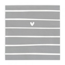 SERWETKI PAPIEROWE   LOVELY DAY STRIPES 20 SZT. 16,5CMx16,5CM BASTION COLLECTIONS