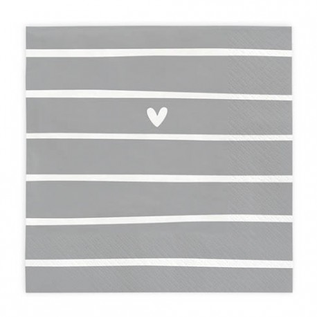 bc Napkin Lovely Day Stripes incl. 20 pcs 16,5x16,5cm