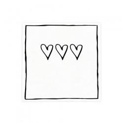 bc Napkin 3 hearts incl. 20 pcs 12,5x12,5cm