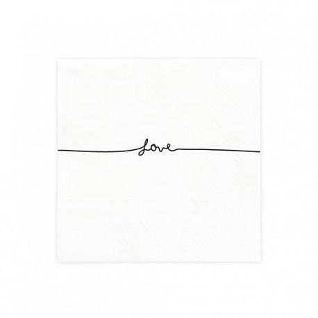 bc Napkin line love incl.20 pcs 12,5x12,5cm