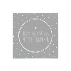 bc Napkin Happy Food Brings incl.20 pcs 12,5x12,5cm