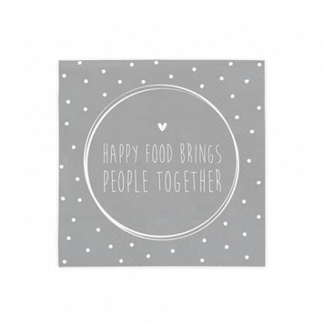 bc Napkin Happy Food Brings incl.20 pcs 12,5x12,5cm