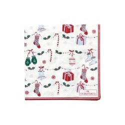 19 Napkin Jingle bell white small 20pcs