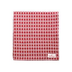 19 Tablecloth Heart petit red 150x150cm